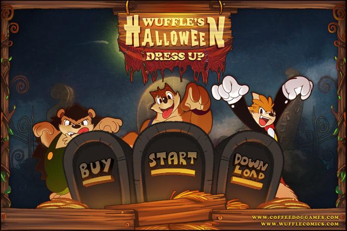 Wuffle's Halloween Dress Up